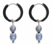 D-A22.1 E2142-026S S. Steel Earrings Freshwater Pearls 1x2.5cm