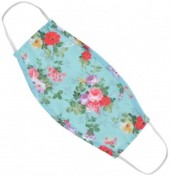 S-F6.4  Fashion Mask - 2 Layers - Cotton - Machine Washable - Individually Packed - Flowers