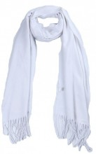 T-O2.2 SCARF406-002C Scarf with Fringes 170x31cm White