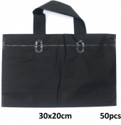 L-C7.1 Deluxe Plastic Bags 50pcs Black 30x20cm