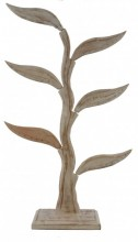 Z-E2.3  Wooden Earring Stand for 24 pairs 42 cm White
