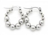 D-A16.3 E301-003 Stainless Steel Earrings 2cm Silver