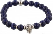 B-A2.5 S. Steel Bracelet with Semi Precious Stones Blue
