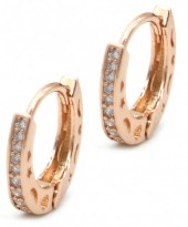 B-A16.3 E1929-002R Earrings with Cubic Zirconia 15mm Rose Gold