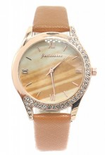 E-B17.4 W523-078 Quartz Watch 36mm with Crystals Brown