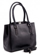 Q-I5.2 BAGE-911 Luxury Leather Bag 35x26cm Black